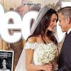 Виж уникалната сватбена рокля на Амал Аламудин +първите семейни снимки на Джордж Клуни