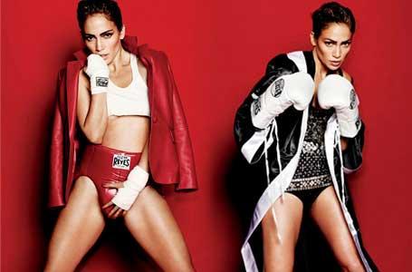 Джей-Ло по боксови ръкавици в скандална фотосесия