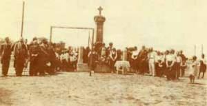 Панихида пред паметника на Александър Георгиев Коджакафалията през 1930 г.