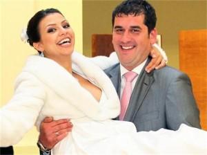 Сватбата на Деси с Янчо Таков-младши. За жалост бракът им не продължи дълго