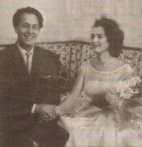 Сватбата на Коста Цонев с Анахид Тачева. На младини Коста прави тандем по естрадите с Пенка Груева, героинята на нашия разказ