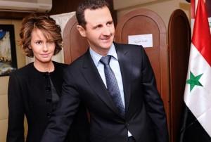 Асма Ахрас ал-Асад и Башар Асад