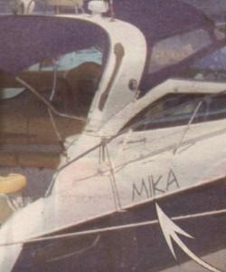 Лодката на Ицо, подаръкът за Жена му Марияна, вече е на разположение на дъщеря му Мика. Имената и на двете личат върху плавателния съд.