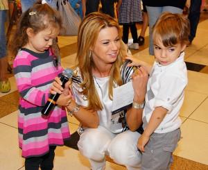 Мая с двете си деца Катрин и Крум-младши