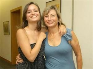 Социоложката с дъщеря си Анна