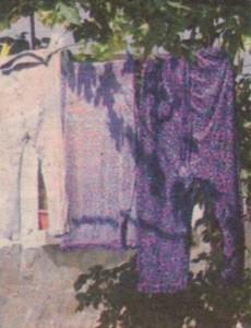 Роднините на Николета носят потури, което е видно от прането им