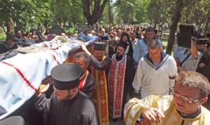 Погребението на митрополит Кирил