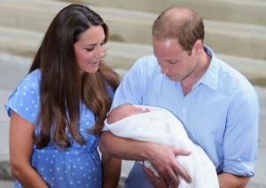 Принц Уилям с Кейт и бебето Джордж