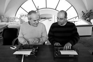 Андрей Райчев и колегата му Кольо Колев в зората на демокрацията