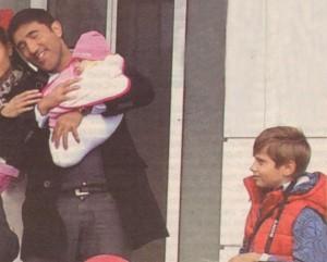 Рахал гушка новороденото като свое