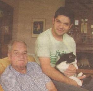 Димитър Коцев - Шошо с баща си, актьора легенда Константин Коцев