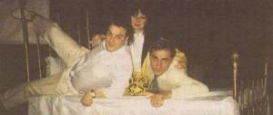 """Краси в компанията на колегите си Жанет Иовчева и Христо Гърбов по време на """"Смехотерапия"""""""