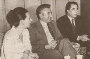 Людмила Живкова с Александър Лилов и Георги Джагаров. На нея се дължи популярността на Жул Паскин в родината му