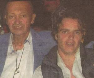 Промененият от болестта писател със сина си Васил
