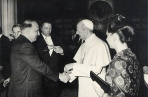 Тодор Живков на аудиенция при папа Павел Шести