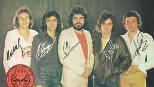 """Група """"Тангра"""" от началото на 80-те със солист Цветан Владовски (в средата)"""