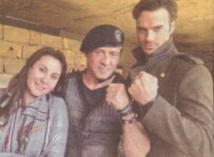 Дарина и Джулио с великия Силвестър Сталоун в Холивуд