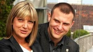Димитър Стоянов с майка си Георгиева