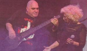 Фънки се включи в съпровода на Кацарова за няколко от песните в тайния й концерт
