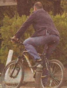 Седалката на велосипеда се е сплескала под наедрелите