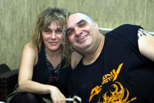 Фънки със съпругата си Антония