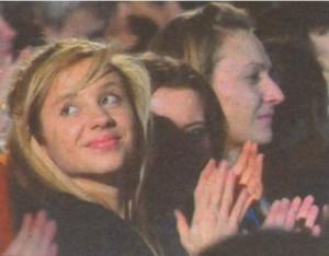 В публиката бе и дъщерята на Веселин Маринов Йоана
