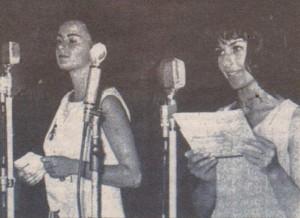 1965 г. Йорданка Кузманова (вляво) и Гинка Станчева откриват във Варна Балкански филмов фестивал