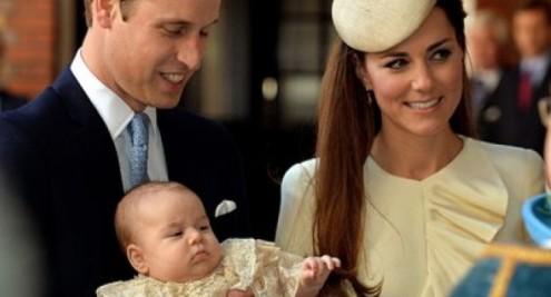 Принц Уилям и Кейт с малкия Джордж