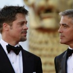 With George Clooney at the Venice Film Festival in August 2008.