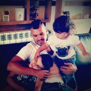 Валери Божинов с двете си деца