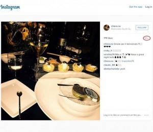 Снимката на Киара от луксозен ресторант, качена преди 18 седмици