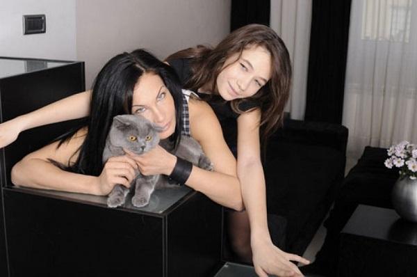 Цеци Красимирова и дъщеря й Джудит