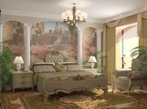 Спалнята в апартамента на Слави
