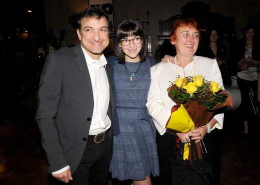 Зуека с дъщеря си Девина и бившата си половинка Нина Димитрова