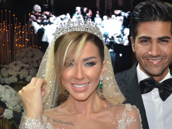 Енджи със съпруга си Рахиб на сватбата им