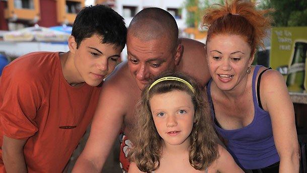 Стефан Щерев - Чечо със семейството си